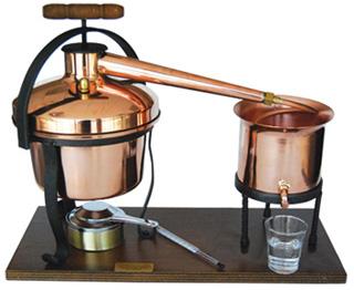 eenvoudig destillatie opstelling